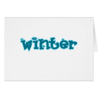 "Frosty, ""Winter"" Greeting Card"