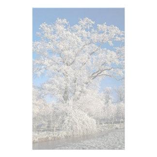 Frosty winter scene, England Stationery Design