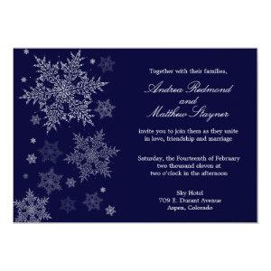 Frosty Winter Snowflake Wedding invitation 5