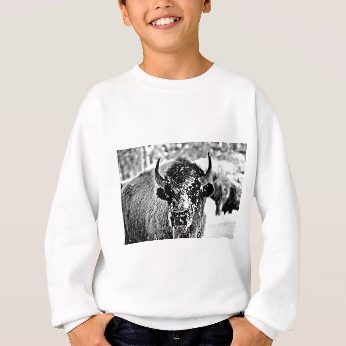 Frosty Yellowstone Bison Sweatshirt