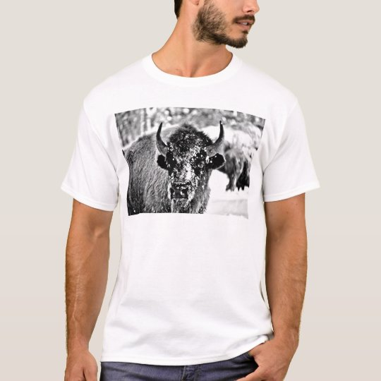 Frosty Yellowstone Bison T-Shirt