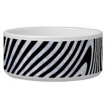 Frosty Zebra Stripes Bowl