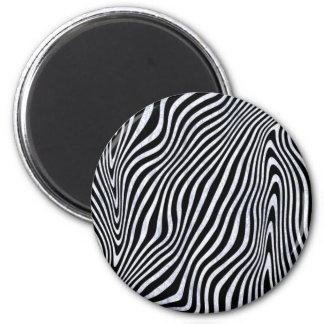 Frosty Zebra Stripes Magnet