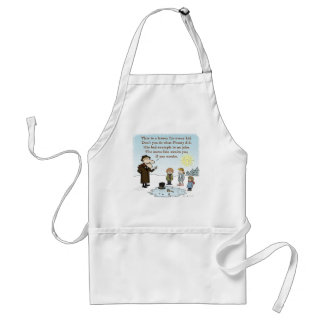 Frosty's Bad Example - Funny Christmas Cartoon Adult Apron