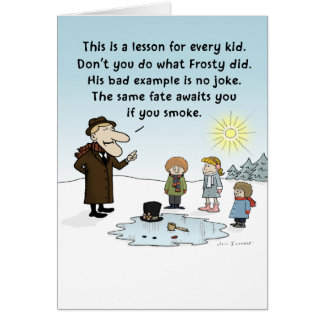 """""""Frosty's Bad Example"""" Stationery Note Card"""