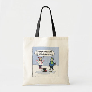 Frosty's Last Day - Funny Christmas Cartoon Canvas Bags