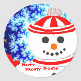 FROSTY'S NIGHT Snowman Design Stickers