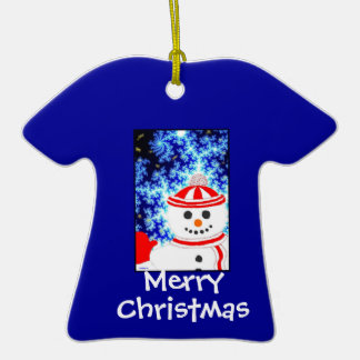 FROSTY'S NIGHT Snowman Ornament Design