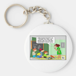 Frosty's Summer Vacation Funny Gifts & Tees Keychain