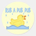 Frotación Ducky de goma amarilla una copia de la Etiqueta Redonda