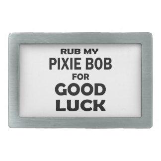 Frote a mi Duendecillo-Bob para la buena suerte Hebillas Cinturon Rectangulares