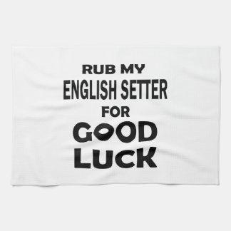 Frote a mi organismo inglés para la buena suerte toallas