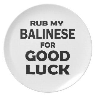 Frote mi Balinese para la buena suerte Platos De Comidas