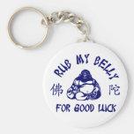 Frote mi Belly de Buda para la buena suerte Llavero Personalizado