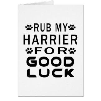 Frote mi corredor de cross para la buena suerte tarjeta de felicitación