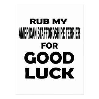 Frote mi Staffordshire Terrier americano para buen Tarjetas Postales