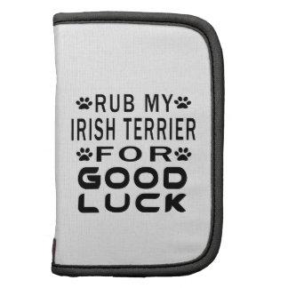 Frote mi Terrier irlandés para la buena suerte Planificador