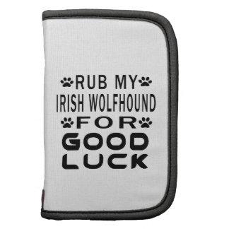Frote mi Wolfhound irlandés para la buena suerte Organizador