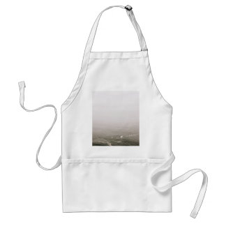 Froth Themed, Misty Frothing Waves In A Sea Surfac Adult Apron