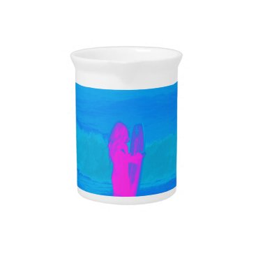 Beach Themed Frothing Neon Beverage Pitcher