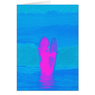 Frothing Neon Card