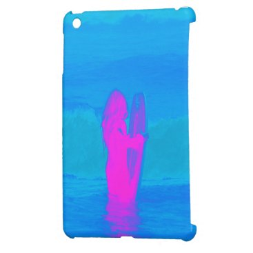 Beach Themed Frothing Neon Cover For The iPad Mini