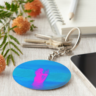Frothing Neon Keychain