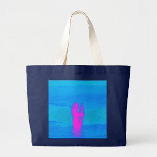 Frothing Neon Large Tote Bag