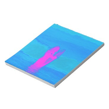 Beach Themed Frothing Neon Notepad