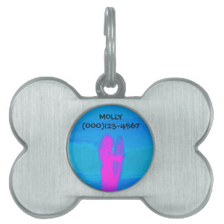 Frothing Neon Pet Tag