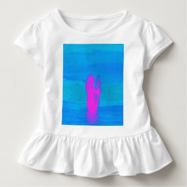 Beach Themed Frothing Neon Toddler T-shirt