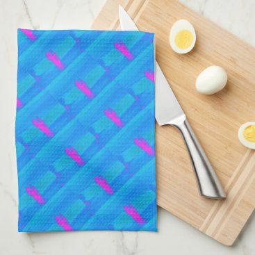 Beach Themed Frothing Neon Towel