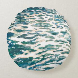 Frothing Ocean Wake Coastal Home Decor Pillow