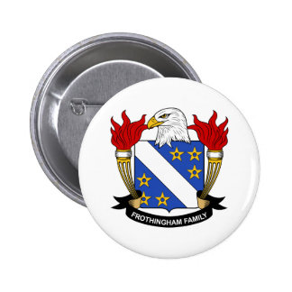 Frothingham Family Crest Pinback Button