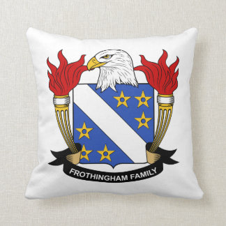 Frothingham Family Crest Throw Pillows