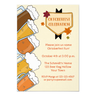 Frothy Beers Oktoberfest Party Invitation
