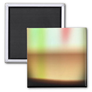 Frothy Cappuccino Coffee Abstract 2 Inch Square Magnet