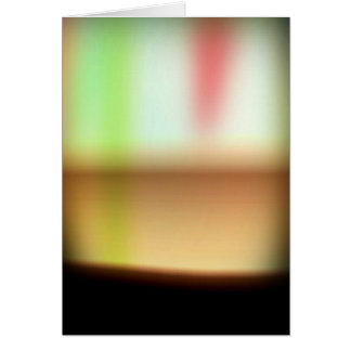 Frothy Cappuccino Coffee Abstract Card