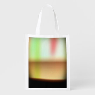Frothy Cappuccino Coffee Abstract Grocery Bags