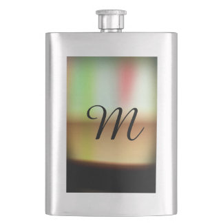Frothy Cappuccino Coffee Abstract Hip Flask