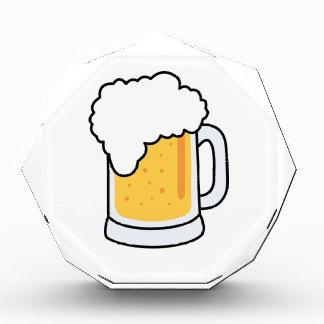 Frothy Cartoon Glass Beer Mug with Beer Acrylic Award