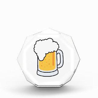 Frothy Cartoon Glass Beer Mug with Beer Award