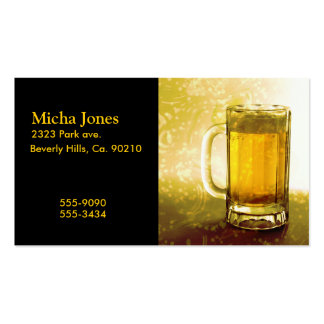 Frothy Mug Of Beer Business Card