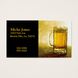 Frothy Mug Of Beer Business Card