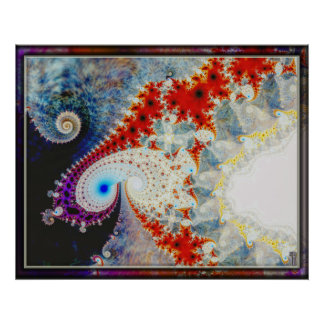 Frothy Spirals Spiraling Variation 1  Art Print