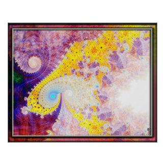 Frothy Spirals Spiraling Variation 3  Art Print