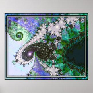 Frothy Spirals Spiraling Variation 4  Art Poster