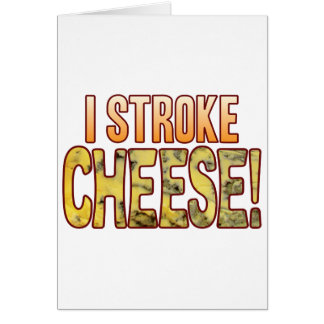 Froto ligeramente el queso verde tarjeta de felicitación