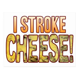 Froto ligeramente el queso verde tarjetas postales
