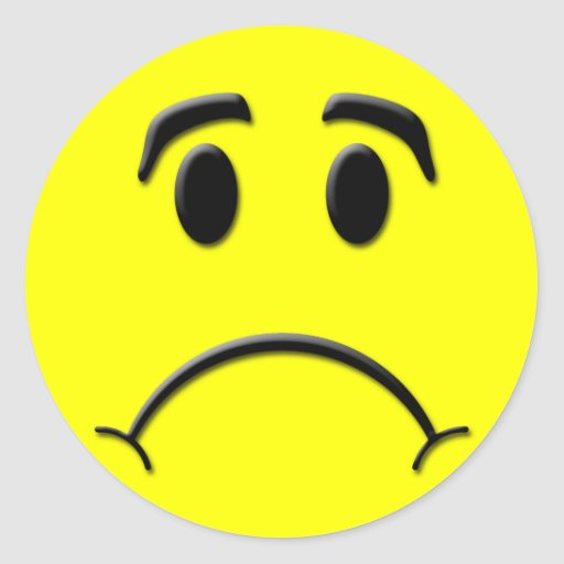 Frown Classic Round Sticker